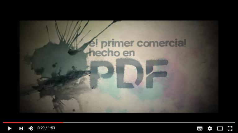 primer spot realizado en PDF