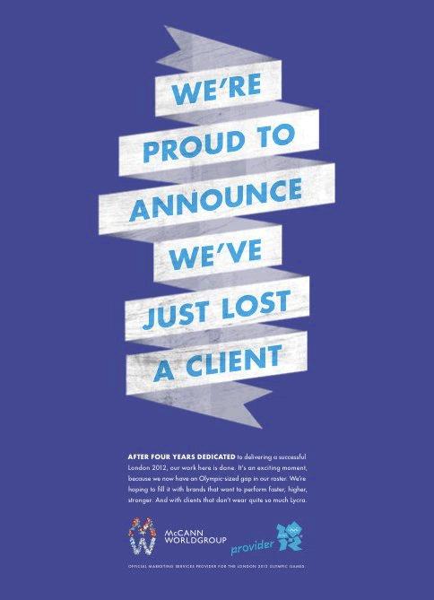 Cuando una agencia de publicidad pierde a su mejor cliente