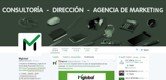perfiles optimizados en redes sociales: Twitter