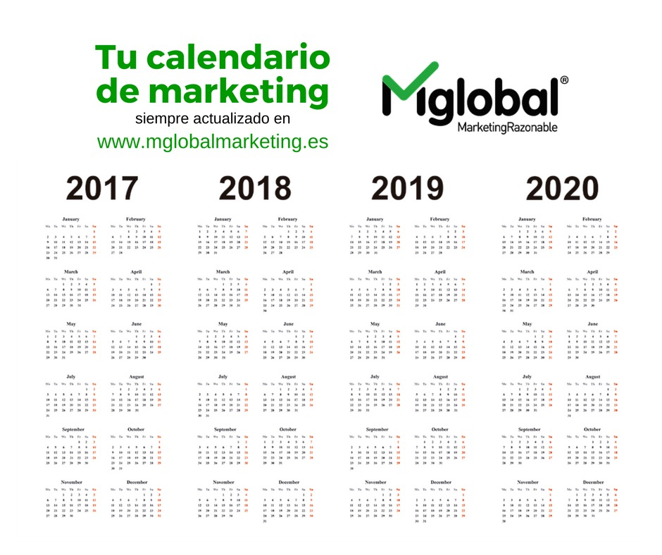 Calendario de marketing actualizado