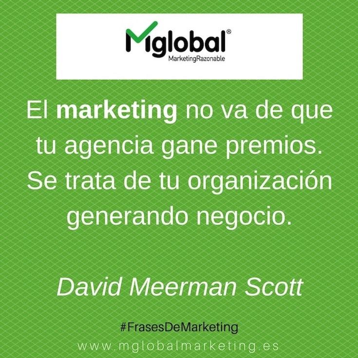 El marketing va de generar negocio