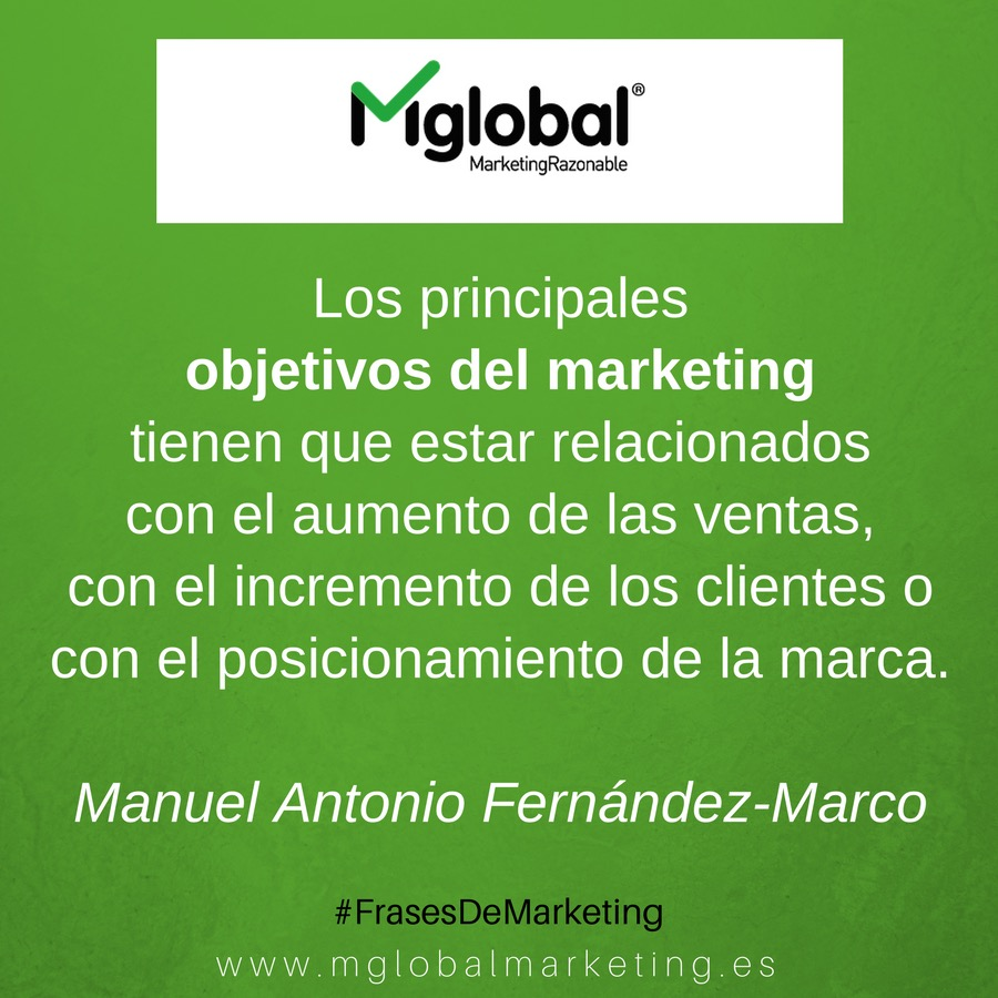 objetivos del marketing