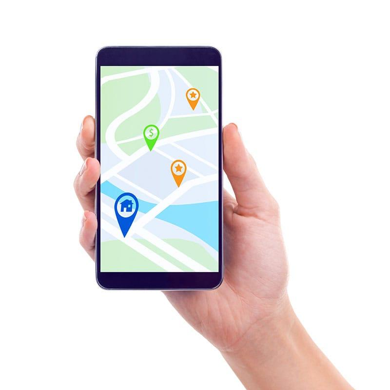 consultoria turismo y servicios acciones de marketing turistico - móvil con puntos geolocalizados