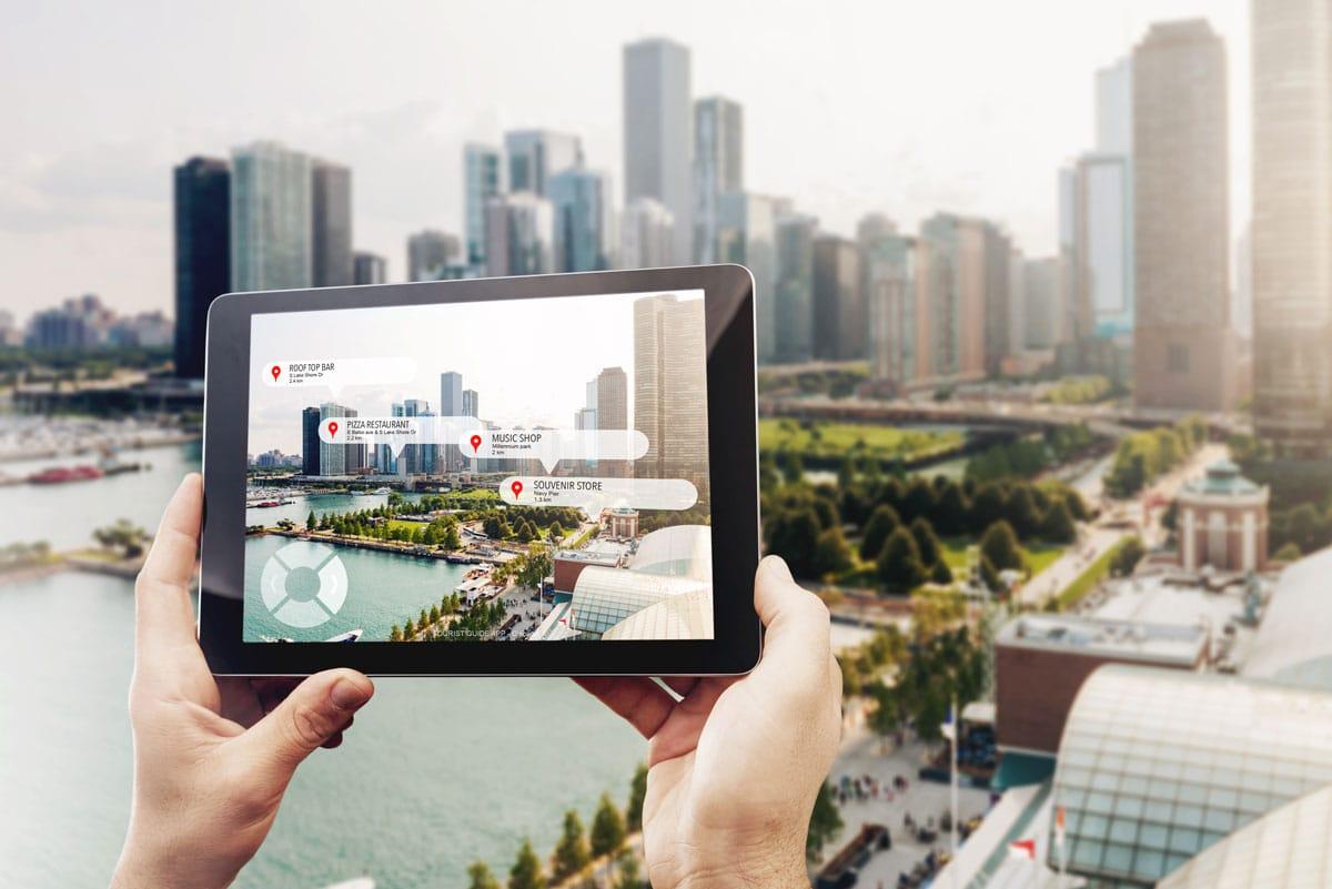 tablet con servicios geolocalizados para consultoria marketing empresas deturismo