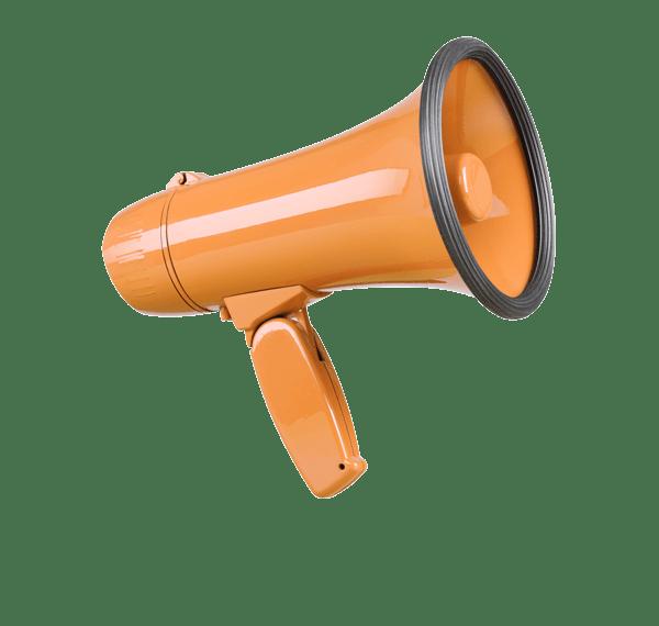 icono de megáfono para servicios de branding