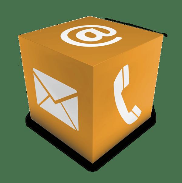 servicios crm marketing relacional icono atencion al cliente: email telefono correo