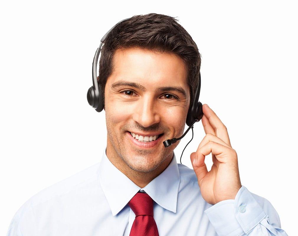 agente con auriculares y micrófono para servicios crm marketing relacional portada construir relaciones con clientes