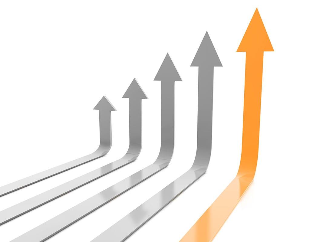 gráfica de flechas para la correcta evaluacion de las acciones e informacion relevantes en servicios indicadores de marketing portada