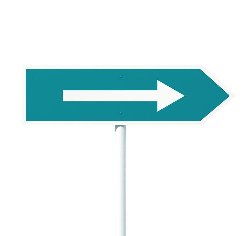 ilustración de flecha para servicios de outsourcing portada diseño de estrategias y acciones de marketing