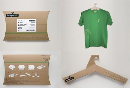 Packaging originales percha cartón